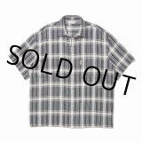 COOTIE/Jacquard Check S/S Shirt(ブラック)[ジャガードチェックシャツ-21春夏]