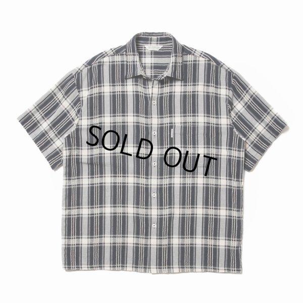 画像1: COOTIE/Jacquard Check S/S Shirt(ブラック)[ジャガードチェックシャツ-21春夏]