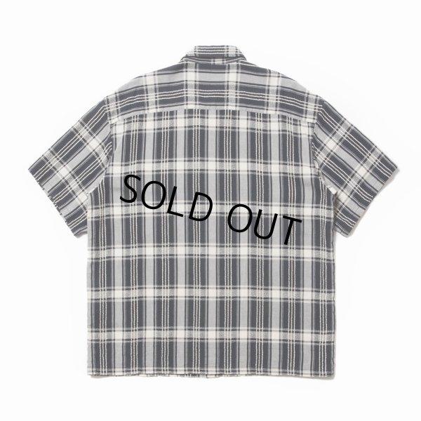 画像2: COOTIE/Jacquard Check S/S Shirt(ブラック)[ジャガードチェックシャツ-21春夏]