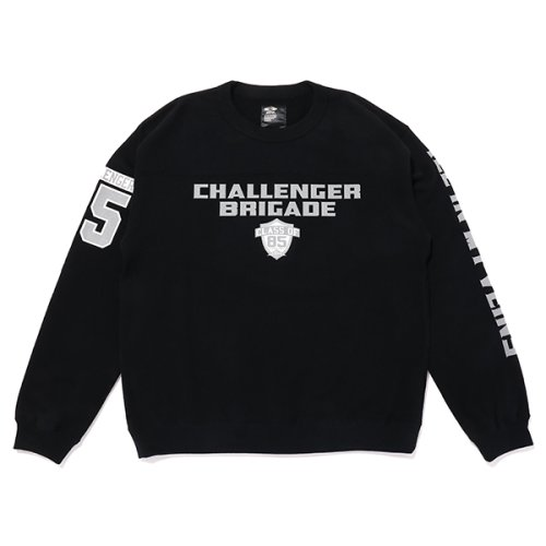 他の写真1: CHALLENGER/BRIGADE SWEAT(ブラック)[クルーネックスウェット-21秋冬]
