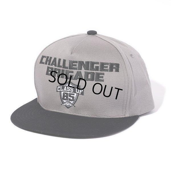 画像1: CHALLENGER/BRIGADE CAP(グレー/ブラック)[キャップ-21秋冬]