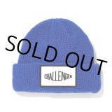 CHALLENGER/LOGO PATCH KNIT CAP(ブルー)[ロゴパッチニットキャップ-21秋冬]