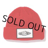 CHALLENGER/LOGO PATCH KNIT CAP(レッド)[ロゴパッチニットキャップ-21秋冬]
