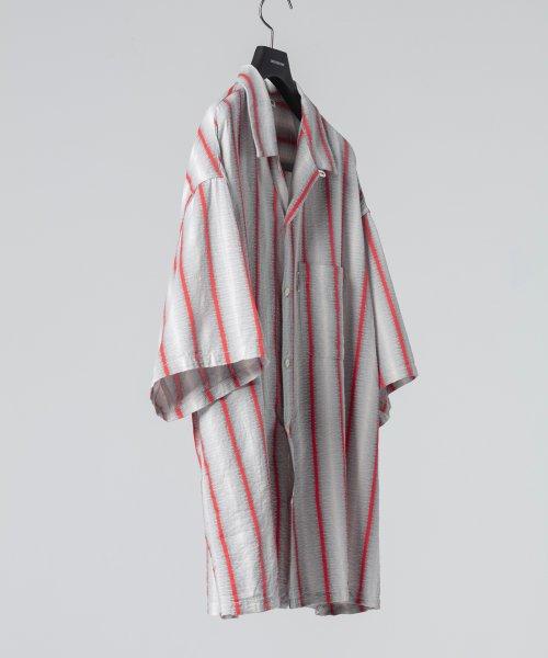 他の写真2: COOTIE/Snake Stripe Open-Neck S/S Shirt(ストライプ)[スネークストライプシャツ-21春夏]