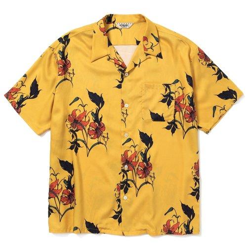他の写真1: CALEE/Allover flower pattern S/S shirt(×MIHO MURAKAMI)(イエロー)[ハワイアンシャツ-21春夏]