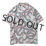 CALEE/Allover snake pattern S/S shirt(ライトグリーン)[ハワイアンシャツ-21春夏]