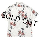 CALEE/Allover flower pattern S/S shirt(×MIHO MURAKAMI)(ホワイト)[ハワイアンシャツ-21春夏]
