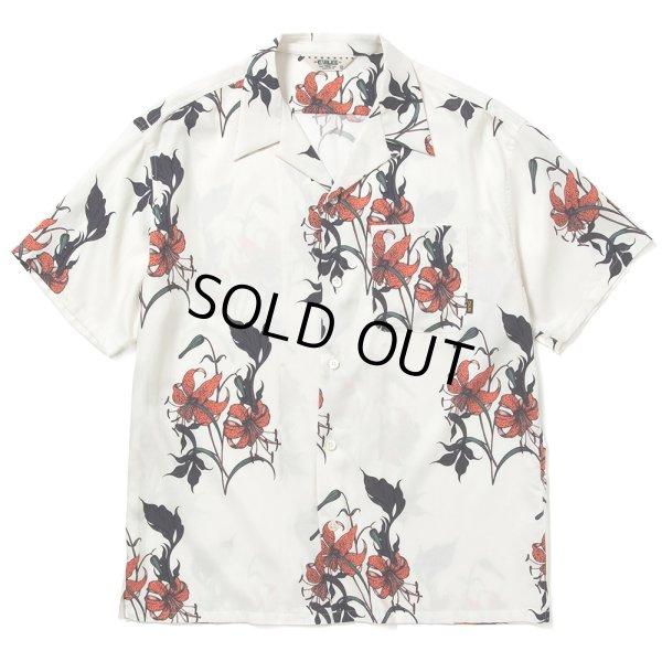 画像1: CALEE/Allover flower pattern S/S shirt(×MIHO MURAKAMI)(ホワイト)[ハワイアンシャツ-21春夏]