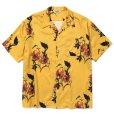 画像1: CALEE/Allover flower pattern S/S shirt(×MIHO MURAKAMI)(イエロー)[ハワイアンシャツ-21春夏] (1)
