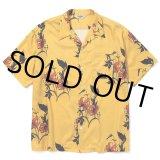 CALEE/Allover flower pattern S/S shirt(×MIHO MURAKAMI)(イエロー)[ハワイアンシャツ-21春夏]