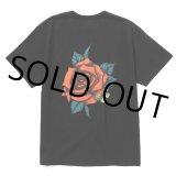 CALEE/Binder neck rose vintage t-shirt(×MIHO MURAKAMI)(ブラック)[プリントT-21春夏]