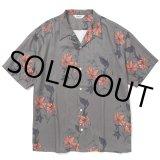 CALEE/Allover flower pattern S/S shirt(×MIHO MURAKAMI)(チャコール)[ハワイアンシャツ-21春夏]