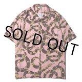 CALEE/Allover snake pattern S/S shirt(ピンク)[ハワイアンシャツ-21春夏]