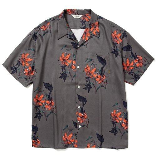 他の写真1: CALEE/Allover flower pattern S/S shirt(×MIHO MURAKAMI)(チャコール)[ハワイアンシャツ-21春夏]