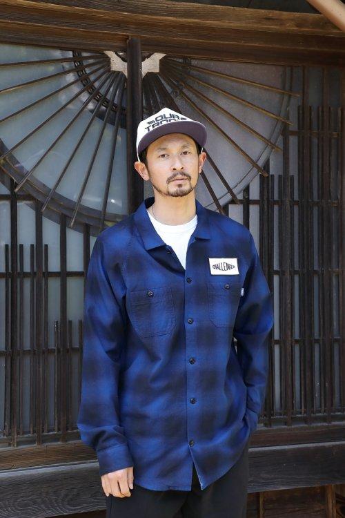 他の写真3: CHALLENGER/L/S CHECK WORK SHIRT(ネイビー)[チェックワークシャツ-21秋冬]