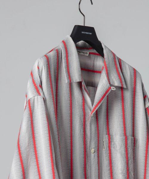 他の写真3: COOTIE/Snake Stripe Open-Neck S/S Shirt(ストライプ)[スネークストライプシャツ-21春夏]