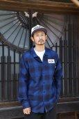 画像7: CHALLENGER/L/S CHECK WORK SHIRT(ネイビー)[チェックワークシャツ-21秋冬]