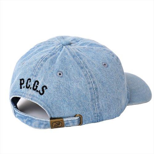 他の写真2: PORKCHOP/2nd Oval DENIM BASEBALL CAP(ライトブルー)[デニムキャップ-21春夏]