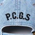 画像4: PORKCHOP/2nd Oval DENIM BASEBALL CAP(ライトブルー)[デニムキャップ-21春夏]