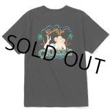 CALEE/Binder neck pin-up girl vintage t-shirt(ブラック)[プリントT-21春夏]