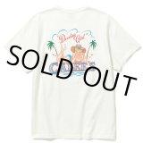 CALEE/Binder neck pin-up girl vintage t-shirt(ホワイト)[プリントT-21春夏]
