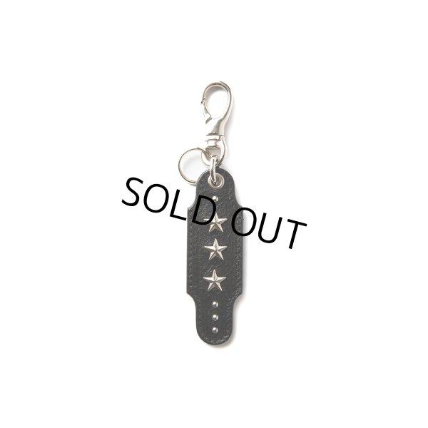 画像1: CALEE/Studs leather key ring(ブラック)[スタッズレザーキーリング-21春夏]