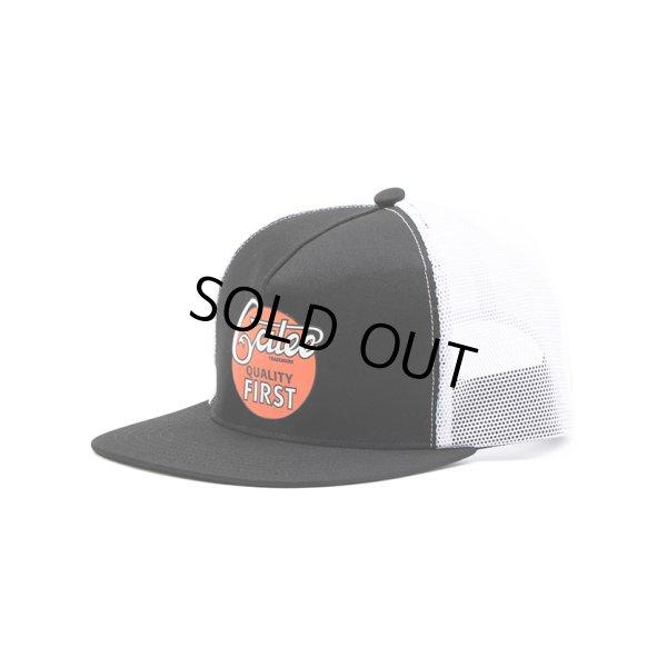 画像1: CALEE/CALEE logo print mesh cap(ブラック/ホワイト)[メッシュキャップ-21春夏]
