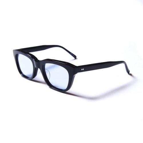 他の写真1: CALEE/Wellington type glasses(ブラック/ブルー)[ウェリントン型眼鏡-21春夏]