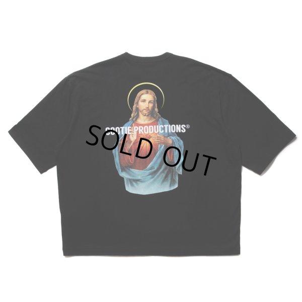 画像1: COOTIE/Print Oversized S/S Tee(JESUS)(ブラック)[オーバーサイズT-21秋冬]