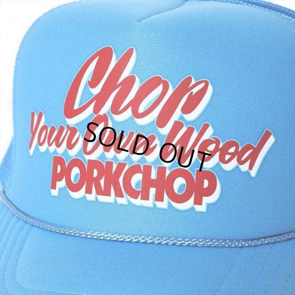 画像3: PORKCHOP/CHOP YOUR OWN WOOD CAP(コロンビアブルー)[メッシュキャップ-21春夏]