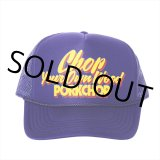 PORKCHOP/CHOP YOUR OWN WOOD CAP(パープル)[メッシュキャップ-21春夏]