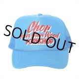 PORKCHOP/CHOP YOUR OWN WOOD CAP(コロンビアブルー)[メッシュキャップ-21春夏]
