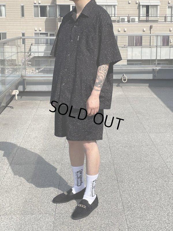 画像4: COOTIE/Splatter Open-Neck S/S Shirt(ブラック)[スプラッターオープンカラーシャツ-21秋冬]