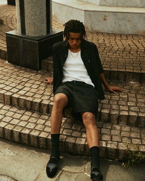 他の写真3: COOTIE/Splatter Open-Neck S/S Shirt(ブラック)[スプラッターオープンカラーシャツ-21秋冬]
