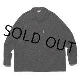 COOTIE/Splatter Open-Neck L/S Shirt(ブラック)[スプラッターオープンカラーシャツ-21秋冬]