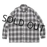COOTIE/Ombre Check L/S Shirt(ブラック)[オンブレチェックシャツ-21秋冬]