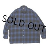 COOTIE/Ombre Check L/S Shirt(ブルー)[オンブレチェックシャツ-21秋冬]