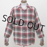 WACKO MARIA/CALIFORNIA CHECK OPEN COLLAR SHIRT(TYPE-1)(レッド)[カリフォルニアチェックオープンカラーシャツ-21秋冬]