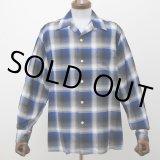 WACKO MARIA/CALIFORNIA CHECK OPEN COLLAR SHIRT(TYPE-1)(ブルー)[カリフォルニアチェックオープンカラーシャツ-21秋冬]