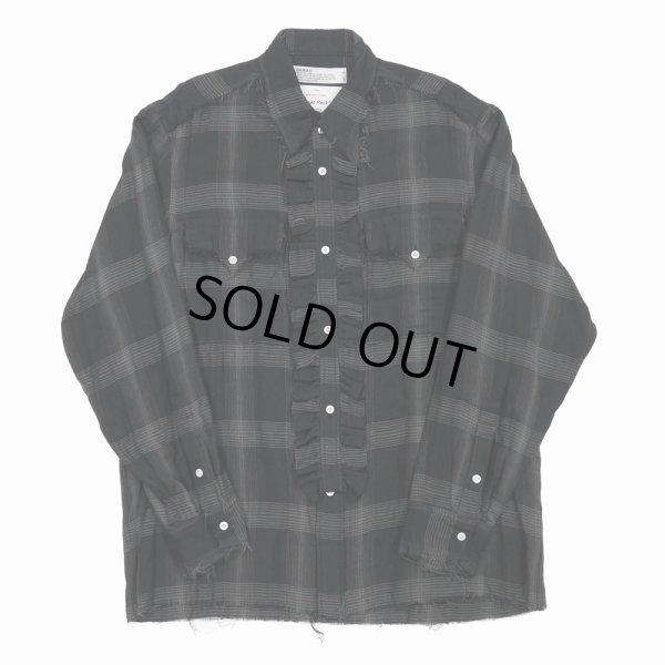 画像1: DAIRIKU/Dallas Triple Gauze Frill Check Shirt(ナイト)[トリプルガーゼフリルチェックシャツ-21秋冬]