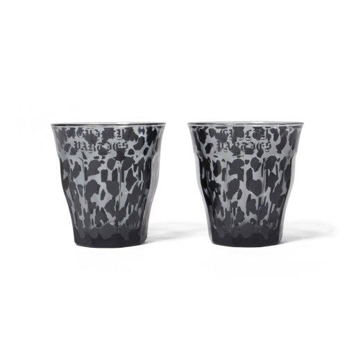 他の写真1: WACKO MARIA/DURALEX / LEOPARD GLASSES SET(グレー)[レオパードグラス(2個セット)-21秋冬]