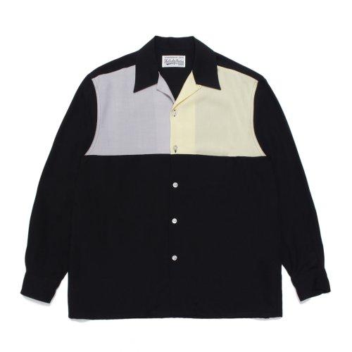 他の写真1: WACKO MARIA/THREE-TONE 50'S SHIRT(グレー/イエロー)[3トーン50'Sシャツ-21秋冬]