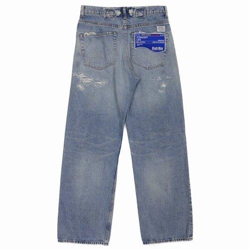 他の写真2: DAIRIKU/Repair Straight Denim Pants(インディゴ)[リペアストレートデニムパンツ-21秋冬]