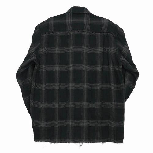 他の写真2: DAIRIKU/Dallas Triple Gauze Frill Check Shirt(ナイト)[トリプルガーゼフリルチェックシャツ-21秋冬]