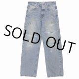 DAIRIKU/Repair Straight Denim Pants(インディゴ)[リペアストレートデニムパンツ-21秋冬]