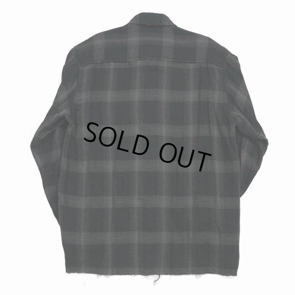 画像2: DAIRIKU/Dallas Triple Gauze Frill Check Shirt(ナイト)[トリプルガーゼフリルチェックシャツ-21秋冬]