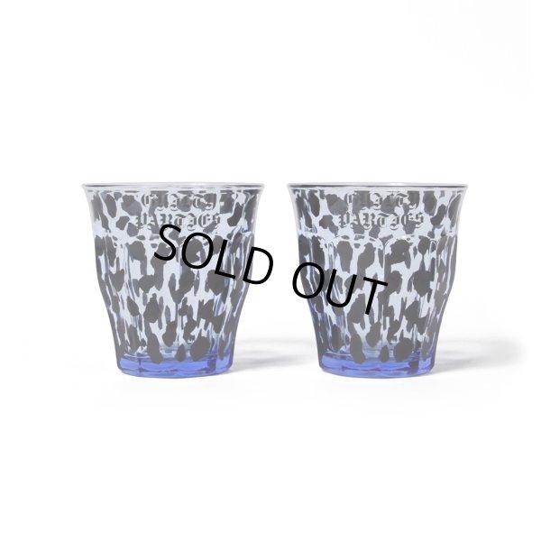 画像1: WACKO MARIA/DURALEX / LEOPARD GLASSES SET(ブルー)[レオパードグラス(2個セット)-21秋冬]