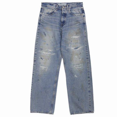 他の写真1: DAIRIKU/Repair Straight Denim Pants(インディゴ)[リペアストレートデニムパンツ-21秋冬]