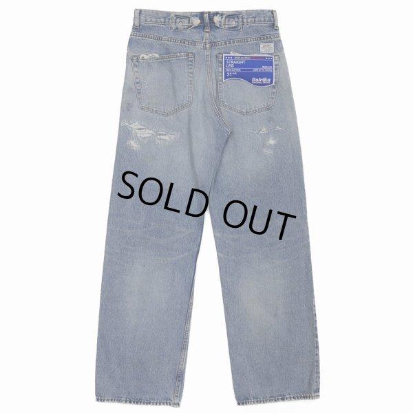 画像2: DAIRIKU/Repair Straight Denim Pants(インディゴ)[リペアストレートデニムパンツ-21秋冬]