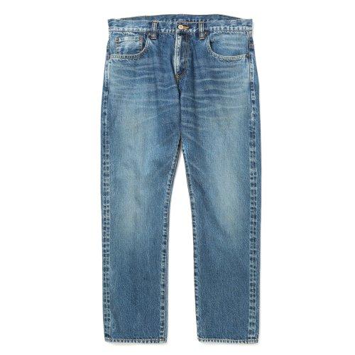 他の写真1: CALEE/Vintage reproduct tapered used denim pants(ユーズドインディゴブルー)[テーパードユーズドデニムパンツ-21秋冬]